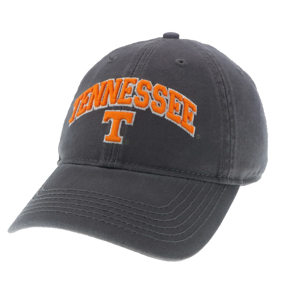 Tennessee Volunteers Dark Grey Relaxed Twill Cap - Arched Tennessee