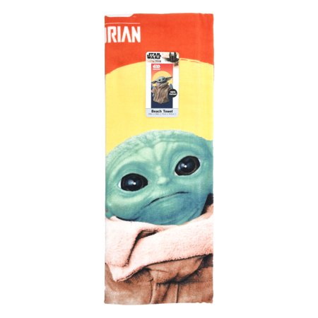 Star Wars: The Mandalorian Baby Yoda Beach Towel