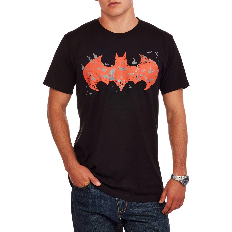 Dc comics Men's Batman glow in the dark logo graphic tee by