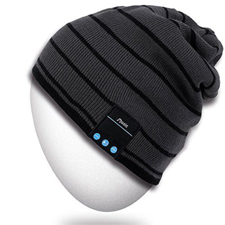 Christmas Free Cell (Bluetooth Beanie Hat,Rotibox Winter Outdoor Sport Premium Knit Cap with Wireless Stereo Headphone Headset Earphone Speaker Mic Hands Free for Iphone Samsung Android Cell Phones,Christmas Gifts -)