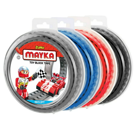 - Mayka Toy Block Tape (4-pack) - 3.2 ft 2-stud