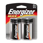 Energizer Max Alkaline D Batteries - D - Alkaline (e95bp2ct)