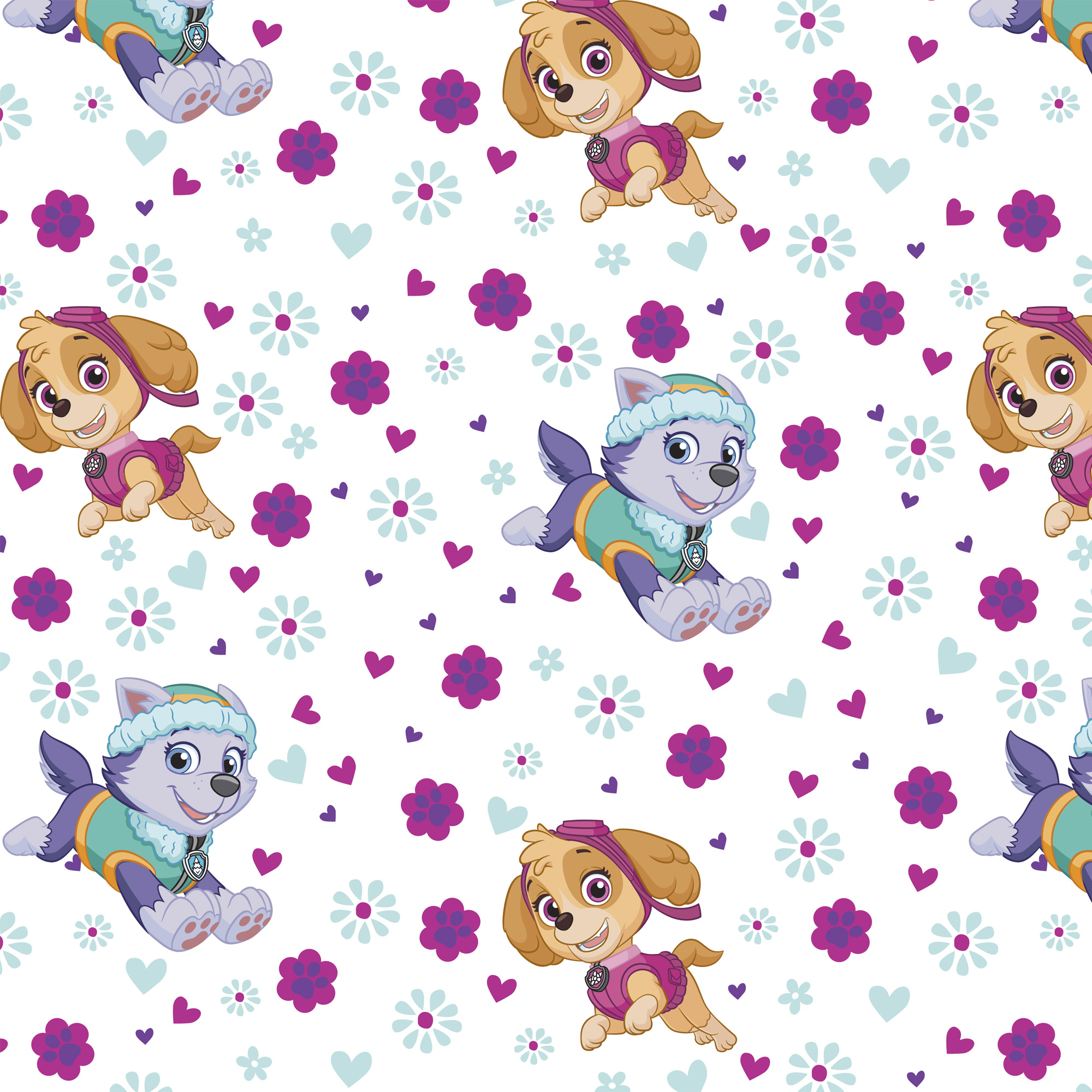 David Textiles Cotton Pre-Cut Fabric Paw Patrol Pup Power Fabric, per Yard