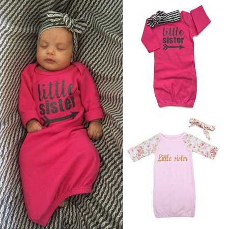 Baby Girl Boy Newborn Take Home Outfit Set Infant Romper Gift Baby Gown - Swaddle Outfit