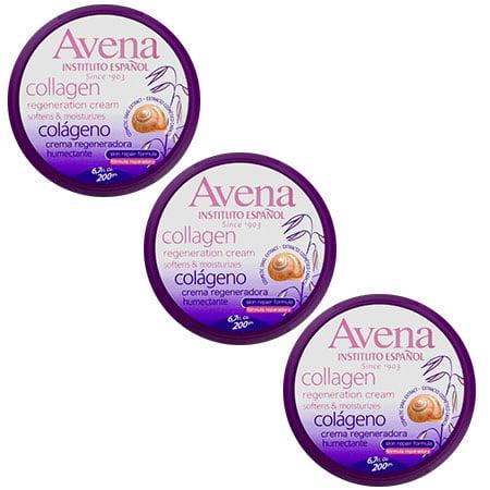 (3 Pack) Avena Collagen Regeneration Hand & Body Cream, 6.7 fl oz