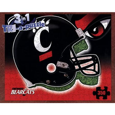 Cincinnati Bearcats Helmet 3-in-1 350 Piece Puzzle,  by Late For The Sky Produc Cincinnati Bearcats Replica Mini Helmet