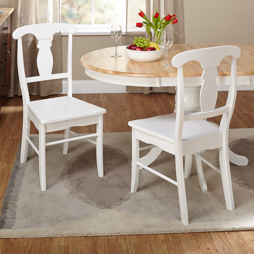 Empire Dining Chair, White, Set of 2 by Generic