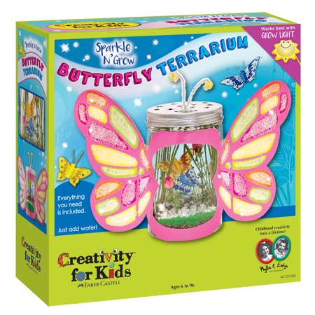 Sparkle N' Grow Butterfly Terrarium - Craft Kit by Creativity for Kids - Thanksgiving Arts And Crafts For Kids