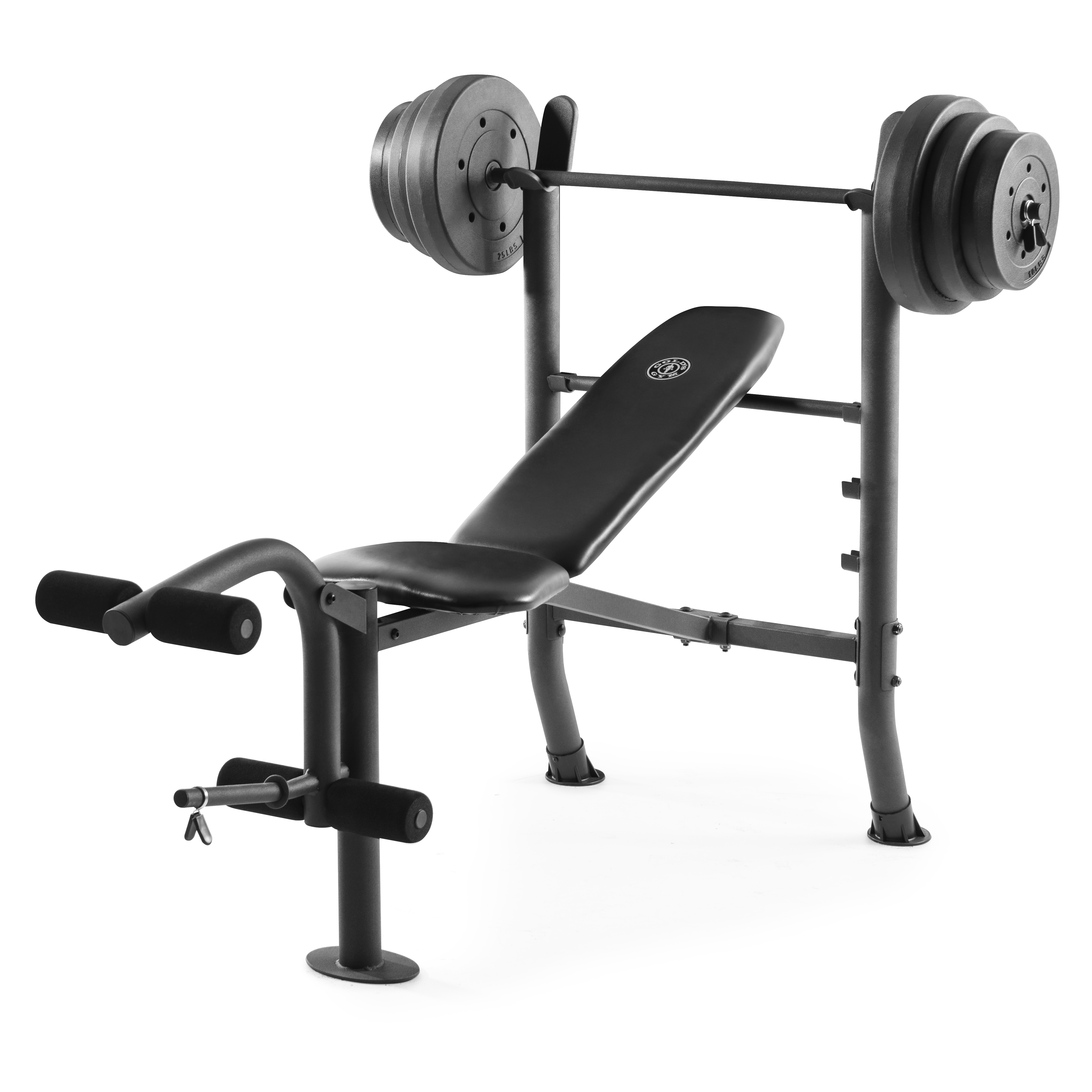 Gold's Gym XR 8.1 Combo Weight Bench with 100 Lb. Vinyl Weight Set