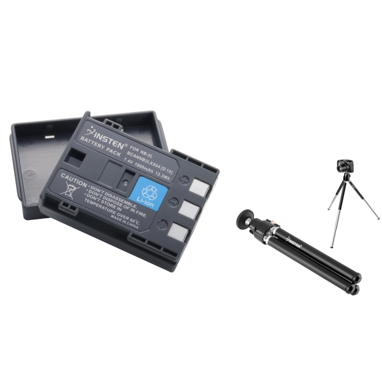 Insten Battery for Canon NB-2L NB2LH 350D 400D 50 60 65 EOS REBEL XT Xti ZR800+Tripod
