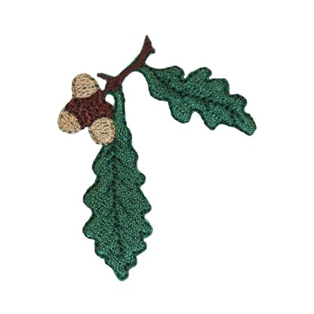 ID 1423A Oak Tree Leaves With Acorn Patch Festive Embroidered Iron On