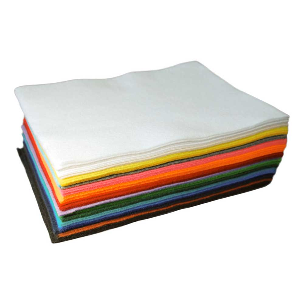 Acrylic Craft Felt: 50 Sheets, Assorted