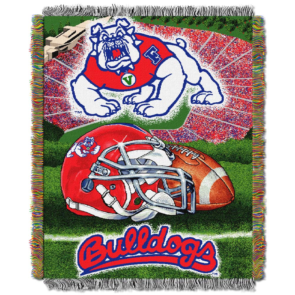 Fresno State Woven Tapestry Blanket