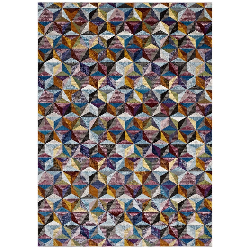 Arisa Geometric Hexagon Mosaic 4x6 Area Rug