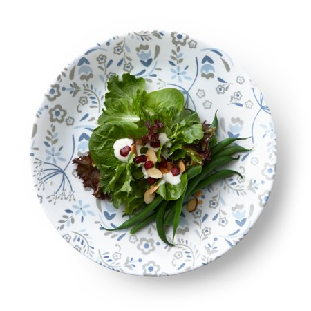 "Corelle Signature Prairie Garden Gray 8.50"" Lunch Plate, Set of 6"