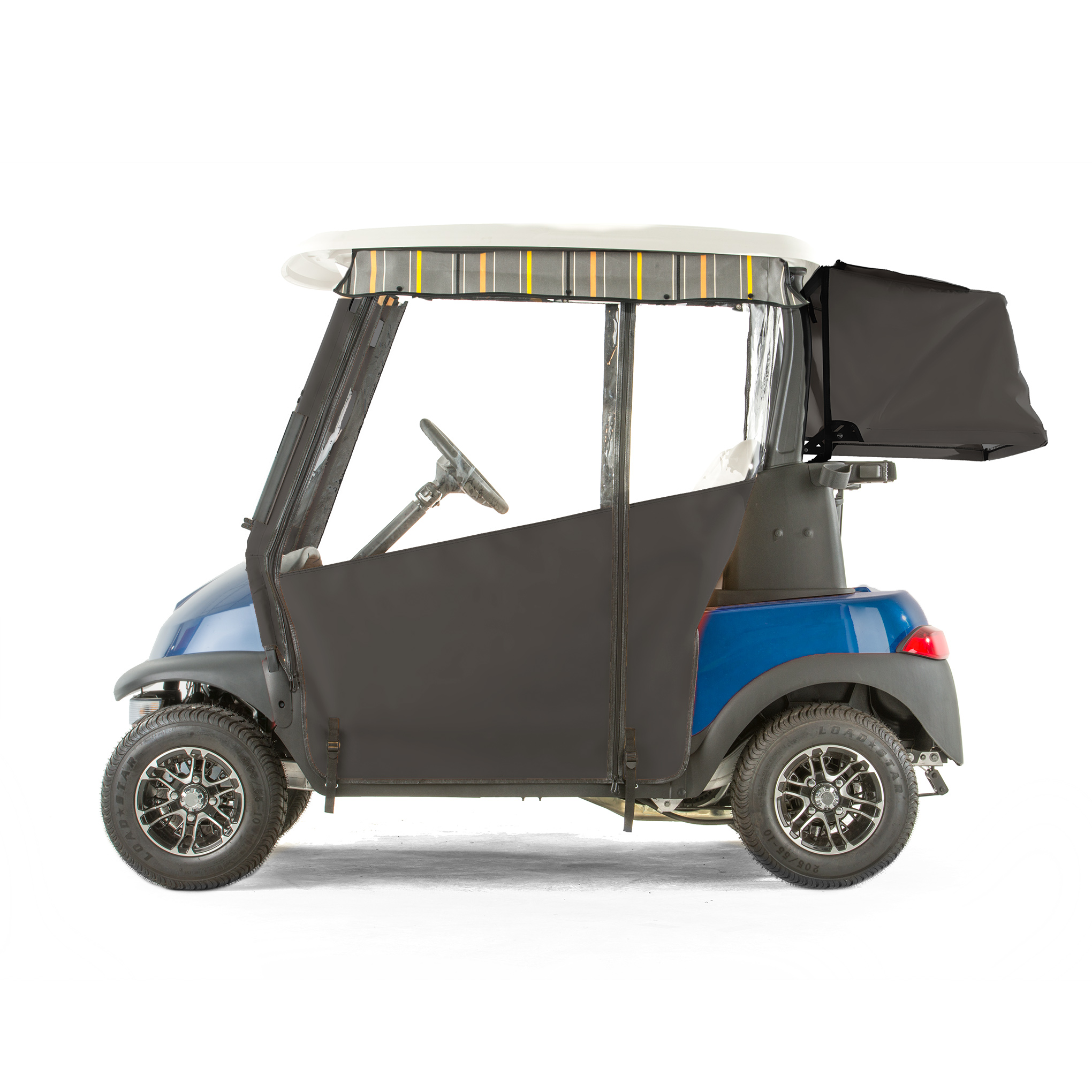 Club Car Precedent Golf Cart PRO-TOURING Sunbrella Track Enclosure - Black