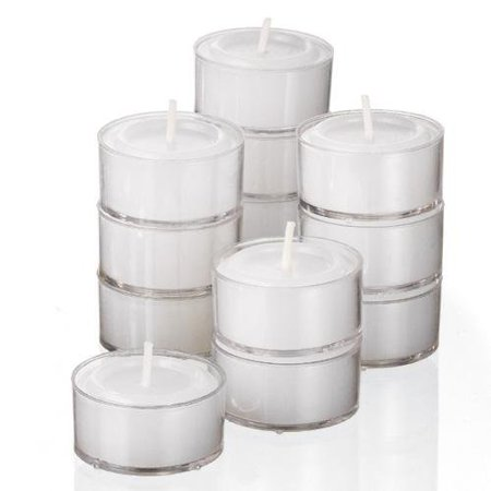 - Stock Your Home 8-Hour Burning White Unscented Classic Tea Light Candles Great for Weddings, Parties, Special Occasions & Home Decorations (Set of 30)
