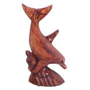 Stoneage Arts Handmade 8-inch Single Dolphin Figurine (Indonesia)