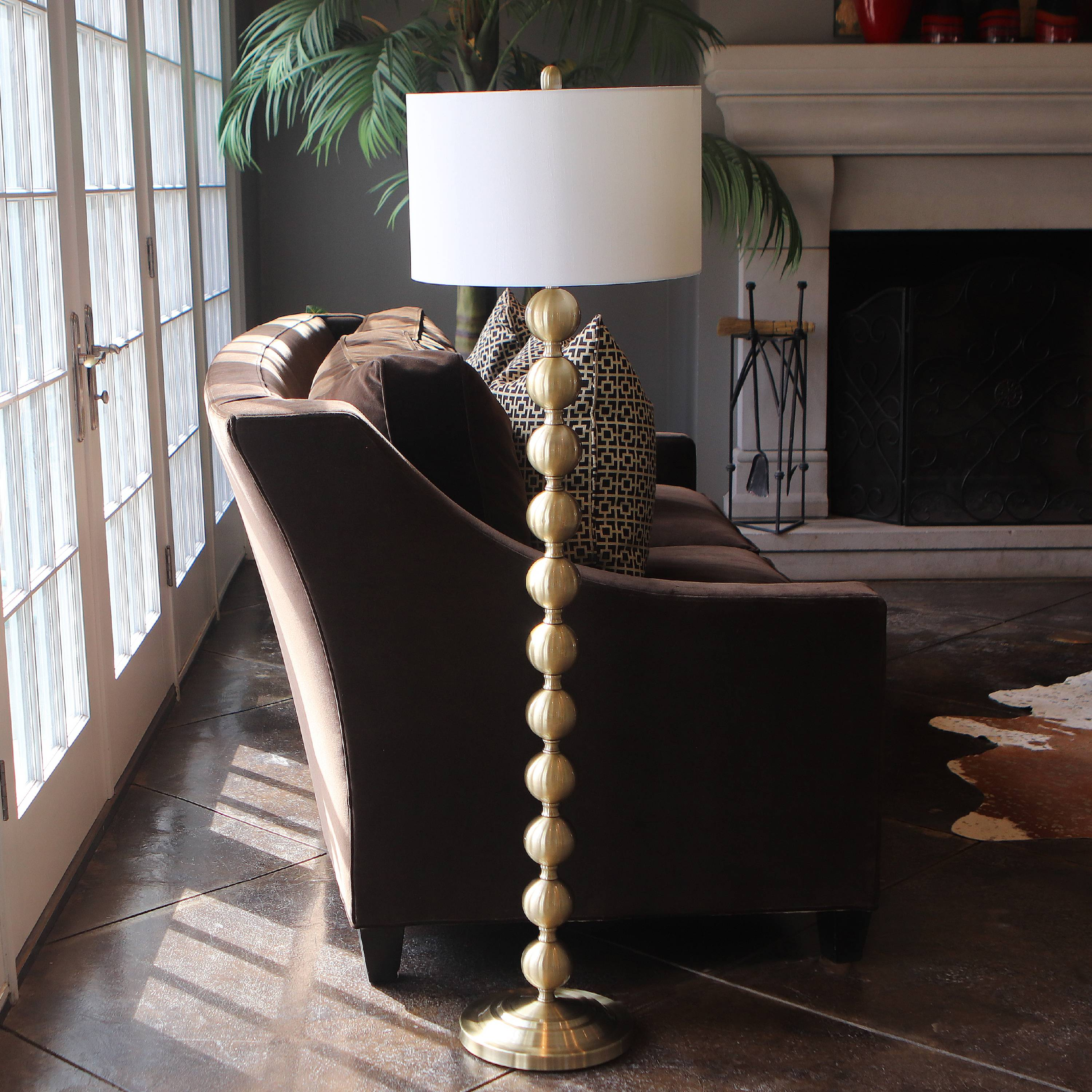 "Decor Therapy 59"" Stacked Ball Floor Lamp"