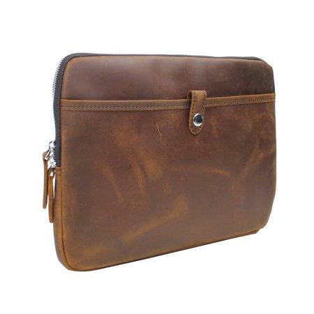 Vagarant Traveler MacBook Pro Sleeve Full Grain Leather Folder LH17. Size 13