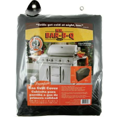 Mr. Bar.B.Q 07006XEF Mr. Bar.B.Q Premium Large Gas Grill Cover - Supports