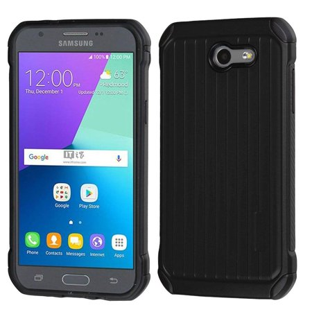 new arrival 82f0d 56f98 Galaxy Express Prime 2 case, Samsung Galaxy J3 case, by Insten Dual Layer  [Shock Absorbing] Suitcase Hybrid Hard Plastic/Soft TPU Rubber Case For ...