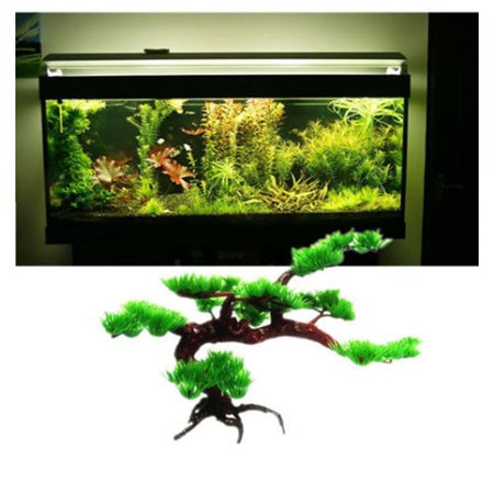 Jeobest 1PC Aquarium Fish Tank Ornament - Aquarium Artificial Plants - Artificial Aquatic Plants - Artificial Plant Pine Tree for Aquarium Fish Tank Decoration Rockery Bonsai Hotel Ornament (Artificial Bonsai Ornament)