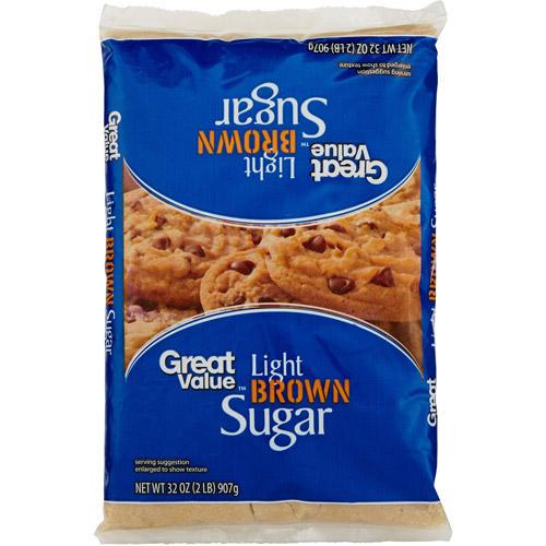 Great Value Lite Brown Sugar,2 lb