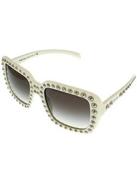 c6fb0a13d2 Product Image Prada Sunglasses Women Ivory Square PR30QS 7S30A7 Size  Lens   Bridge  Temple  56