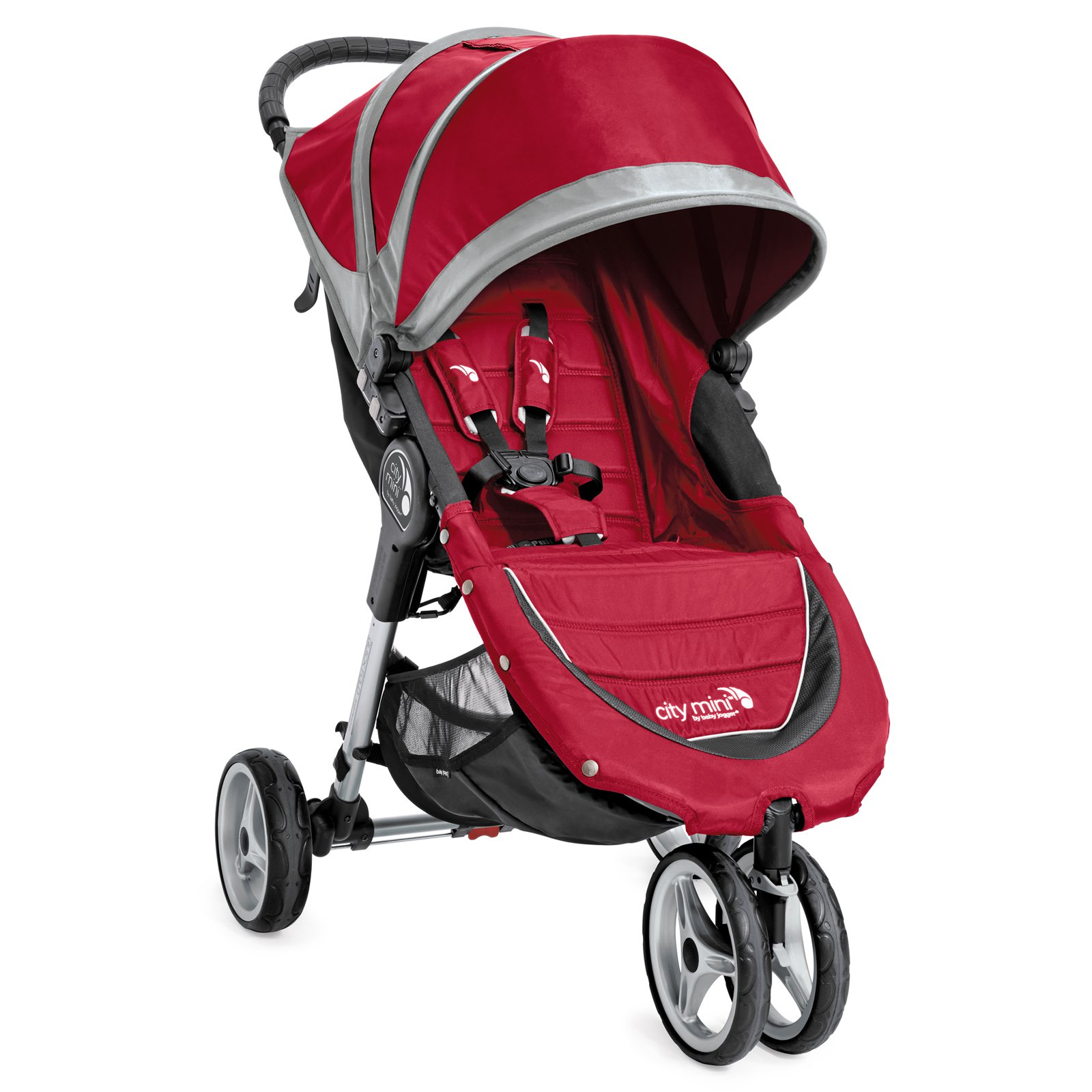 Baby Jogger 2016 City Mini 3W Single Jogging Stroller- Crimson/Gray