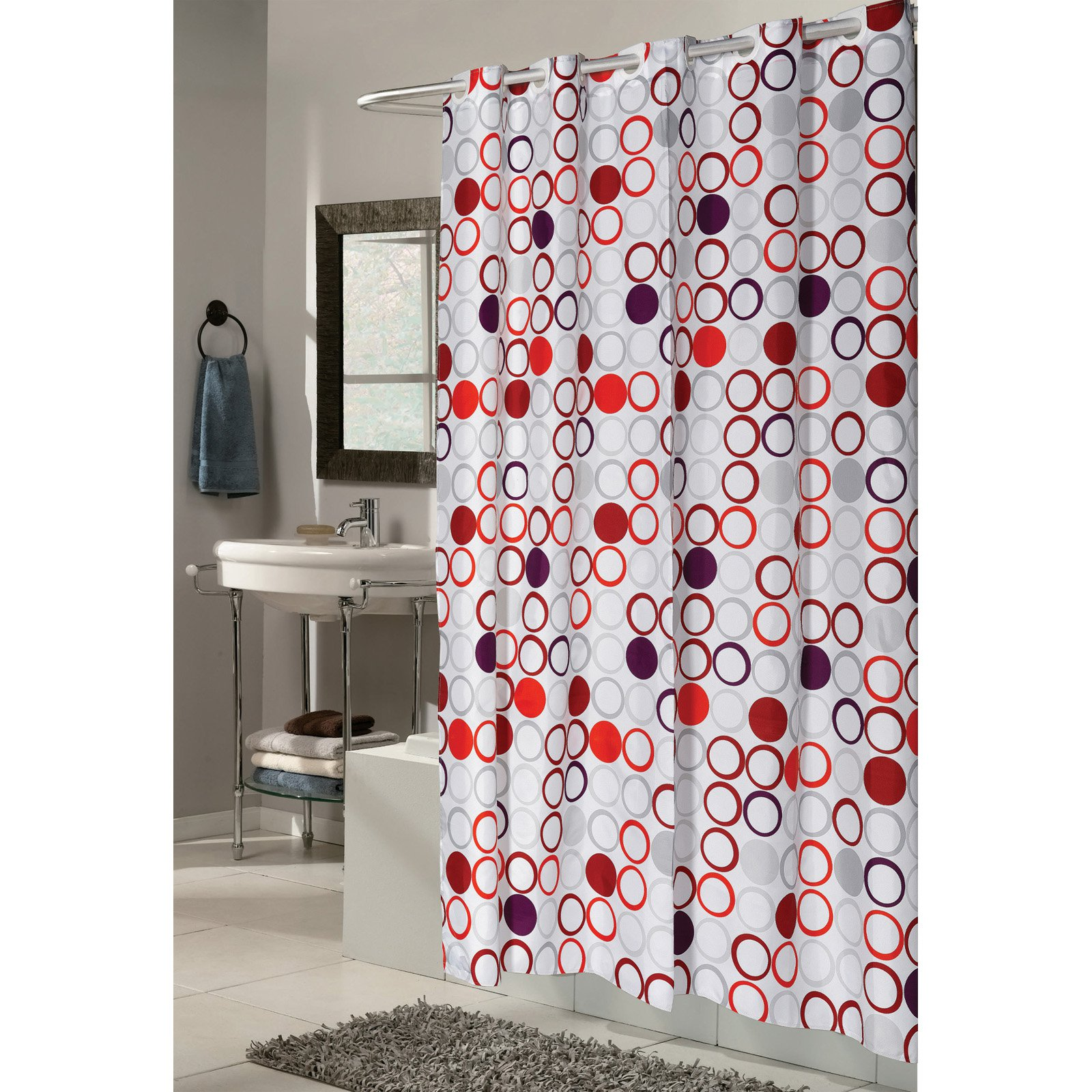"Shower Stall-Sized, EZ-ON® ""Bohemia"" Polyester Shower Curtain"