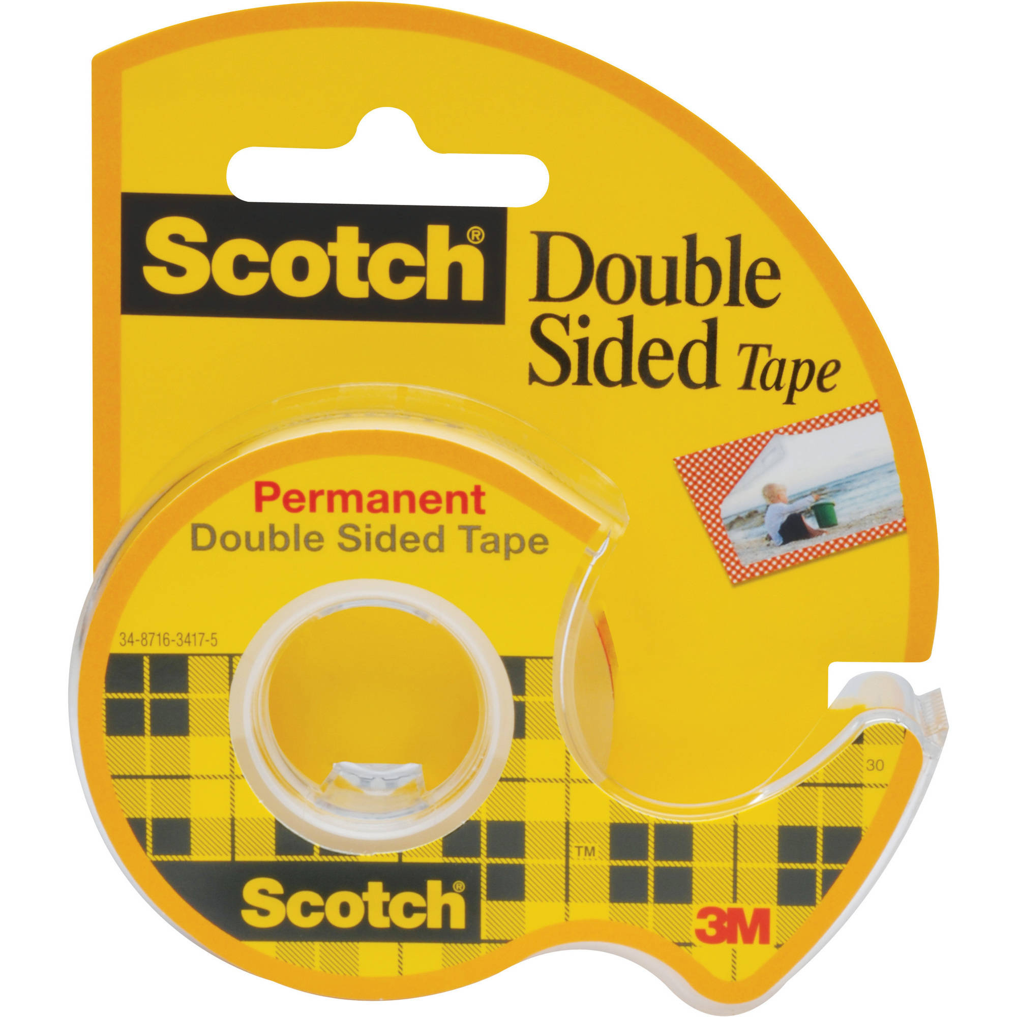 """Scotch 0.5"""" x 400"""" Double Sided Tape Dispenser, 1 Each"""