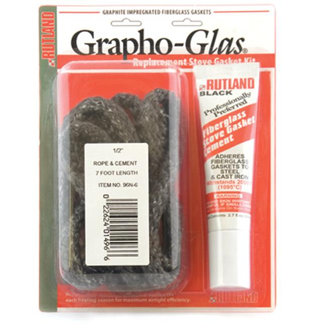 Rutland 99-6 Grapho-Glas Gasket Pellet Stove Replacement Kit With Cement And .75 in. W X 7 ft. L Taperutland