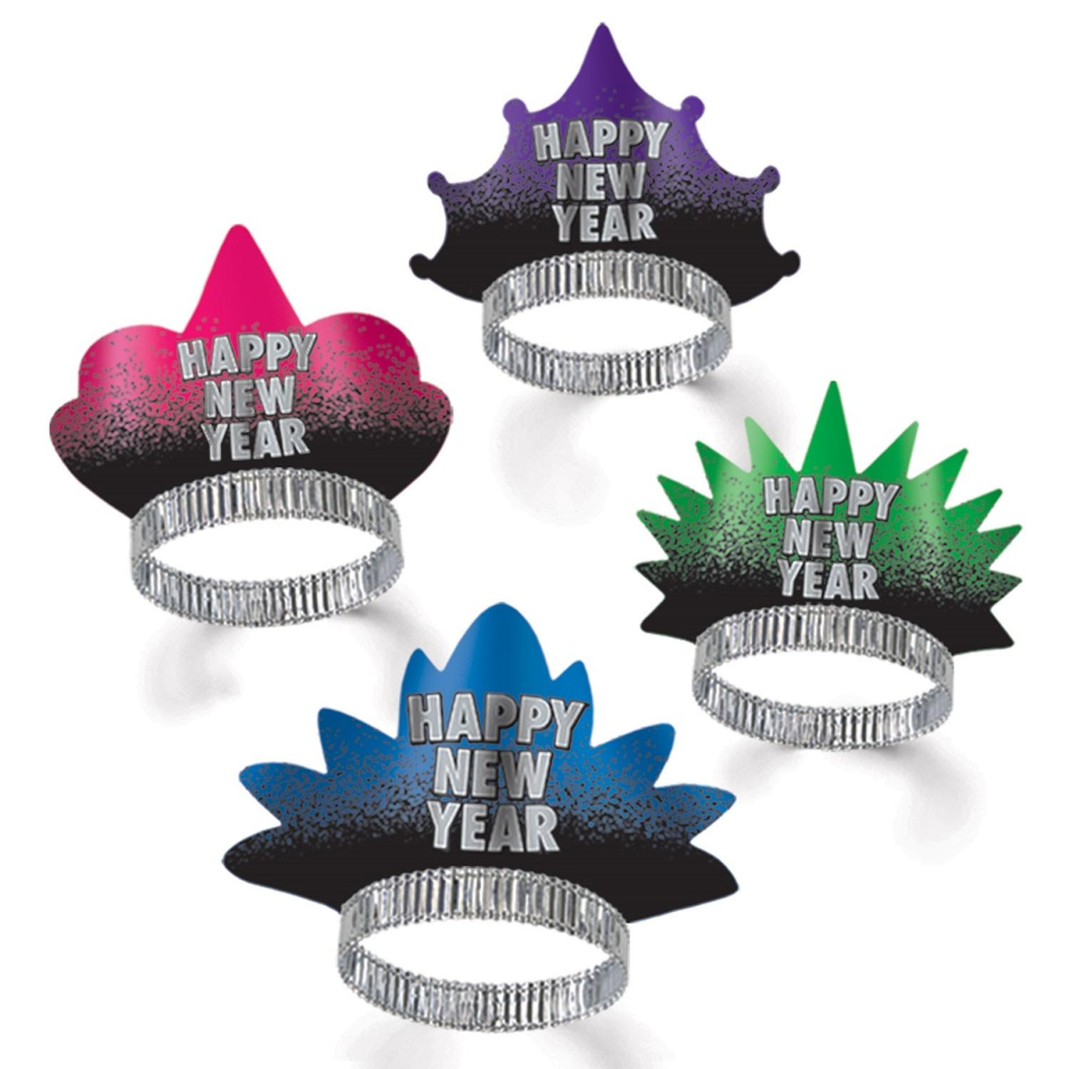 "Club Pack of 50 Resolution ""Happy New Years"" Legacy Party Favor Tiaras"