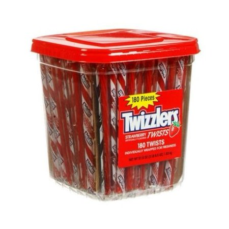 Twizzlers Strawberry Licorice Twists (180 pcs) - Licorice Twizzlers