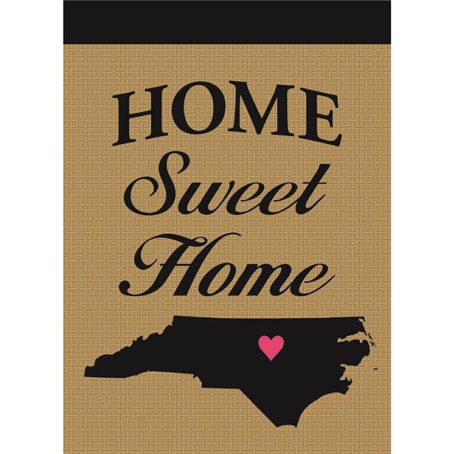 Magnolia Garden Flags M010068 North Carolina Home Sweet Home Burlap Garden Flag - image 1 of 1