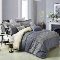 Superior Harrison 300-Thread-Count Cotton Embroidered Duvet Cover Set