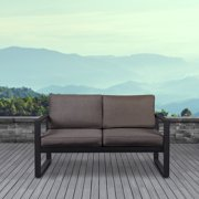 Baltic Loveseat in Black by Real Flame