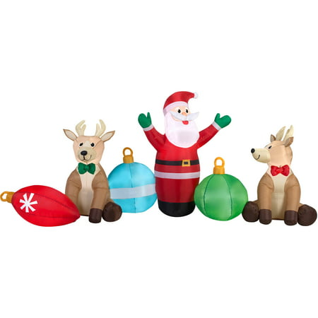 Gemmy Airn Inflatables Christmas Inflatable Santa Reindeer Ornaments Cers Scene 9