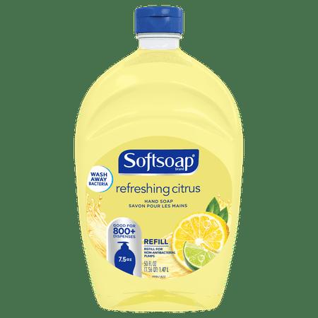 (2 pack) Softsoap Liquid Hand Soap Refill, Refreshing Citrus - 50 fluid ounces