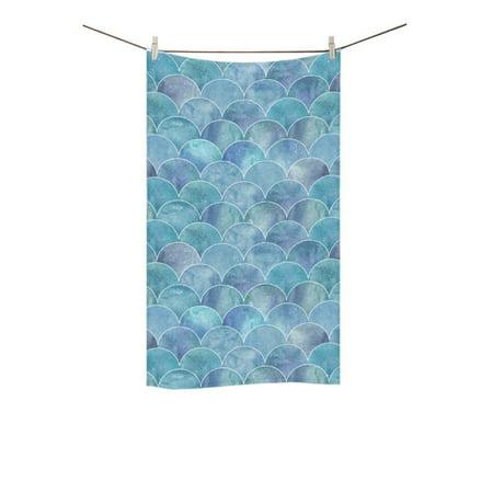 MKHERT Mermaid Scales Bath Towel Hand Towel Shower Towel Washcloth 16x28 (Mermaid Bath)