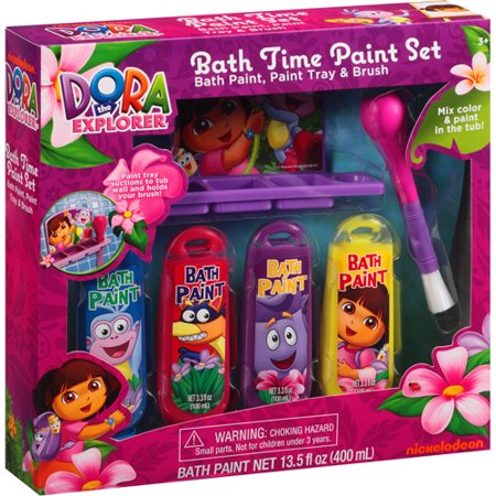 Dora the Explorer Bath Time Paint Set  6 pc. Dora the Explorer Bath Time Paint Set  6 pc   Walmart com