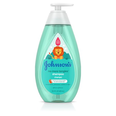 Tangle Free Thermal - Johnson's No More Tangles Kids Shampoo, Paraben Free, 20.3 fl. oz
