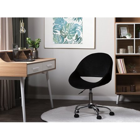 Fabulous Modern Velvet Desk Chair Black Fabric Swivel Adjustable Armless Office Selma Gmtry Best Dining Table And Chair Ideas Images Gmtryco
