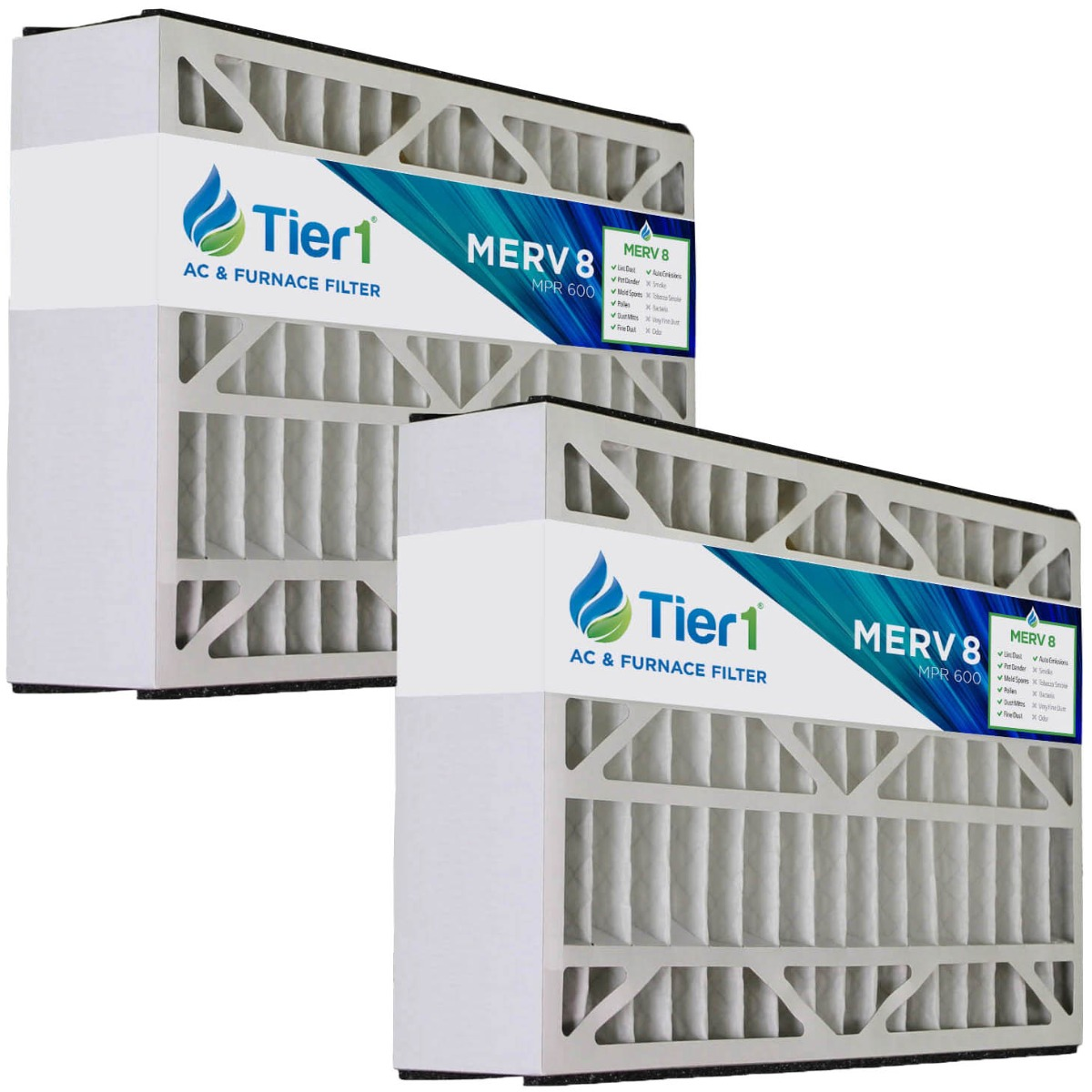 Tier1 21x27x5 Merv 8 Replacement For Trane Flr06070 Bayftr21m Air Filter 2 Pack Walmart Com Walmart Com
