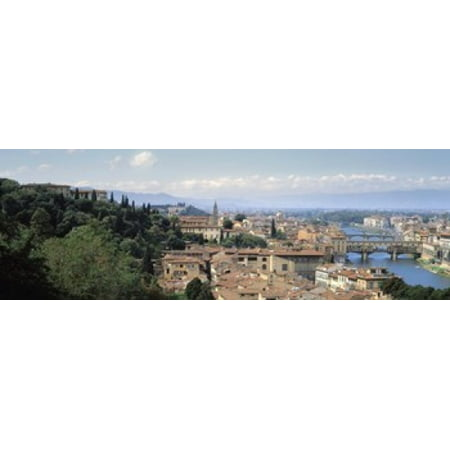 High Angle View Of A City Florence Tuscany Italy Poster Print](Party City Florence)