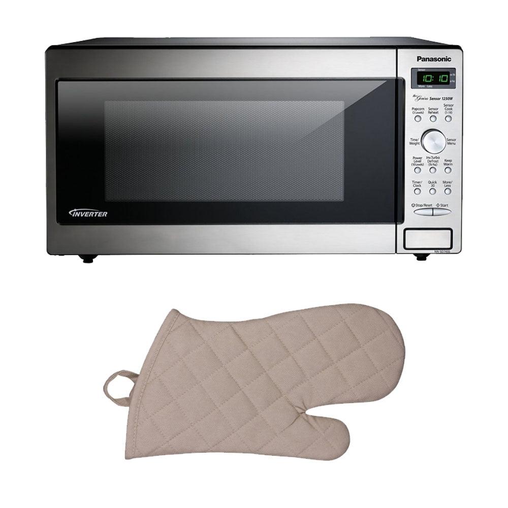 Panasonic Stainless Microwave (1250 Watts/Inverter Technology) w/ Oven Mit