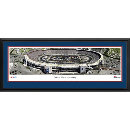 Speedway Nascar Picture - Bristol Motor Speedway - Sprint Cup Series - Blakeway Panoramas NASCAR Print with Deluxe Frame and Double Mat
