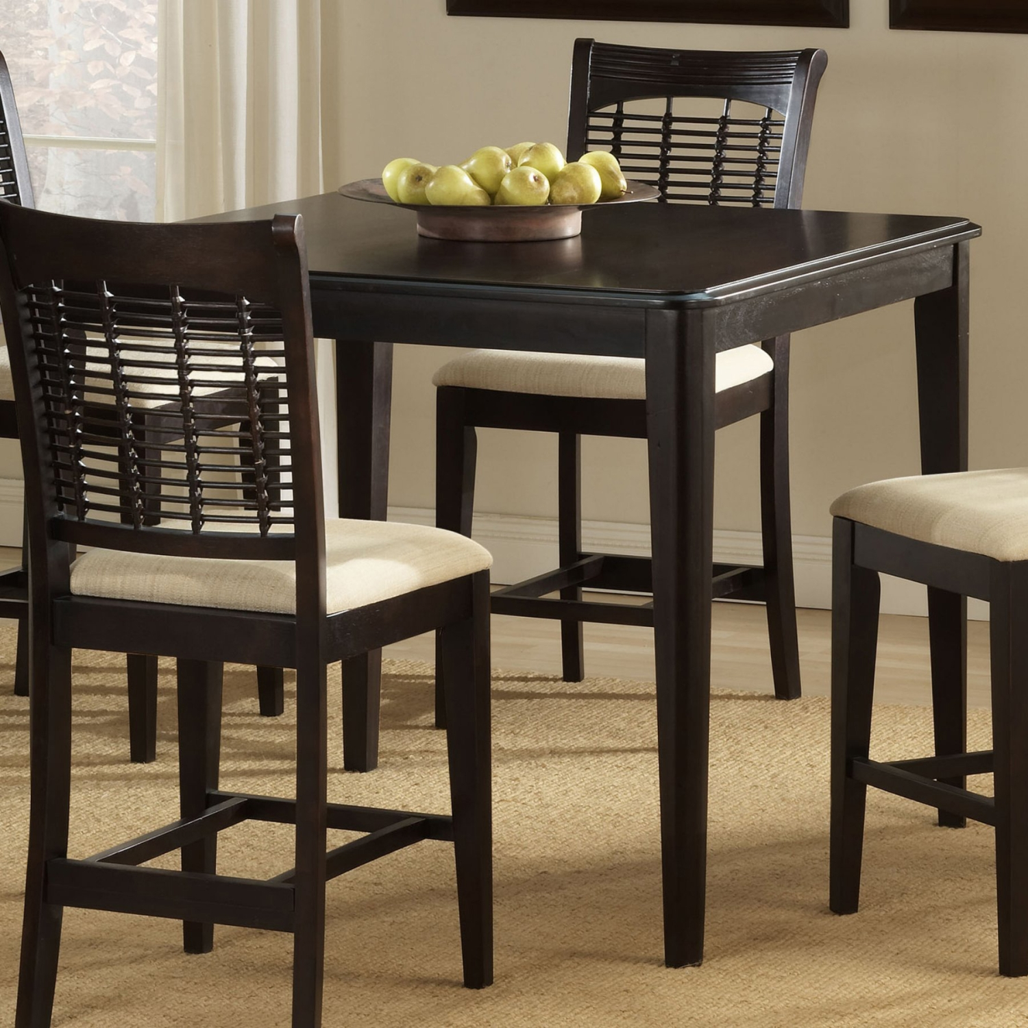 Hillsdale Bayberry Gathering Dining Table, Dark Cherry