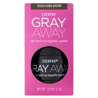 Everpro Beauty Gray Away Root Touch-Up Concealing Powder, Black/Dark Brown